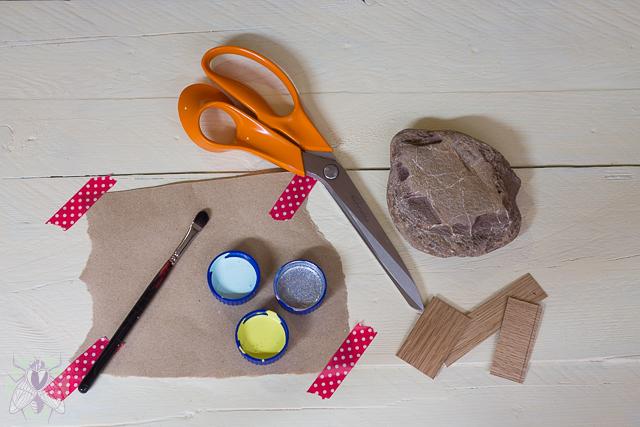 materiales para un pisapapeles pangala
