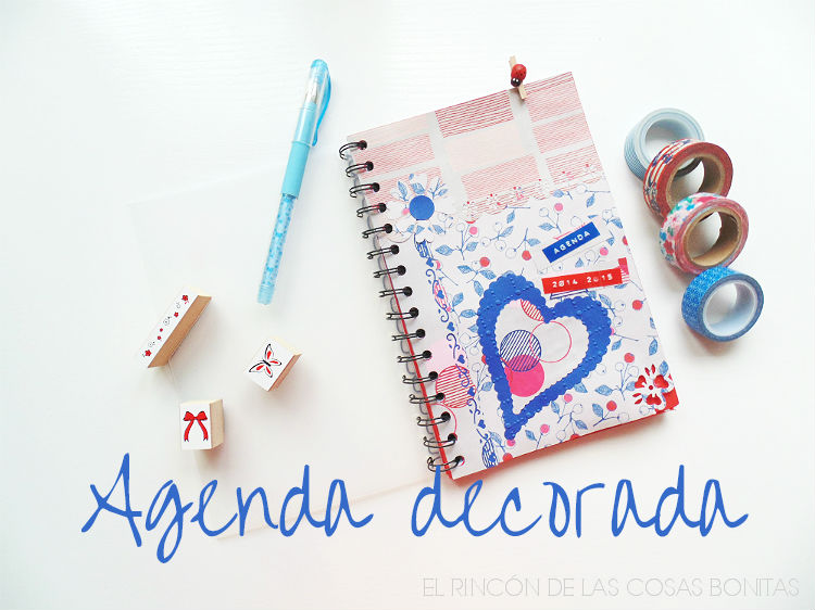 agenda decorada scrapbooking