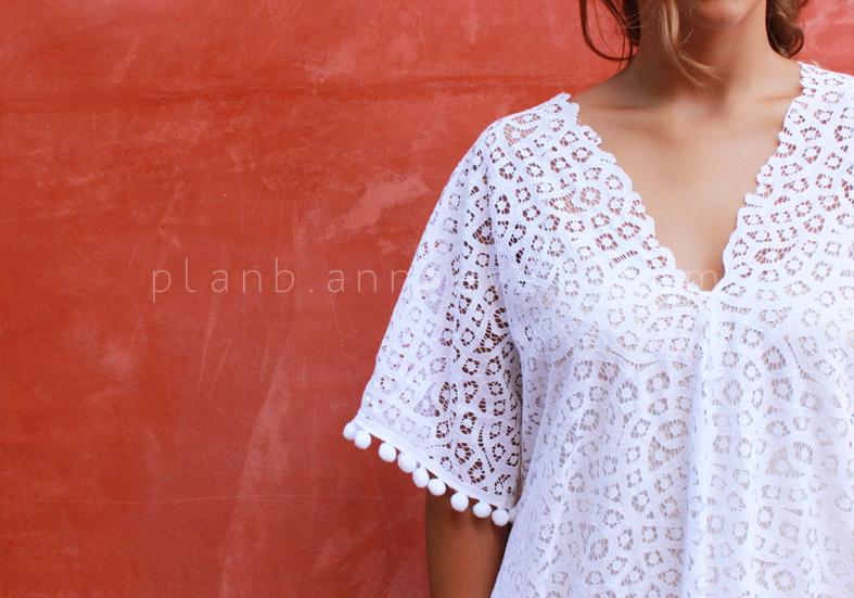 Plan B anna evers DIY Lace kaftan details