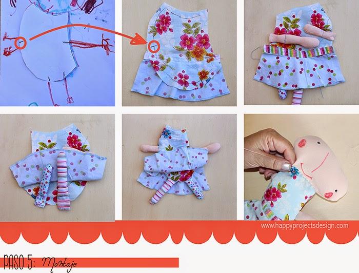 DIY muñeca de tela: el montaje
