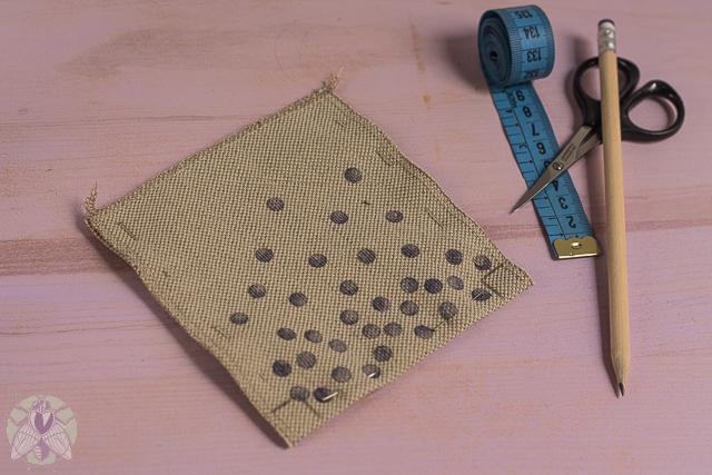 marcar esquinas base cartera de tela missoluciones-pángala