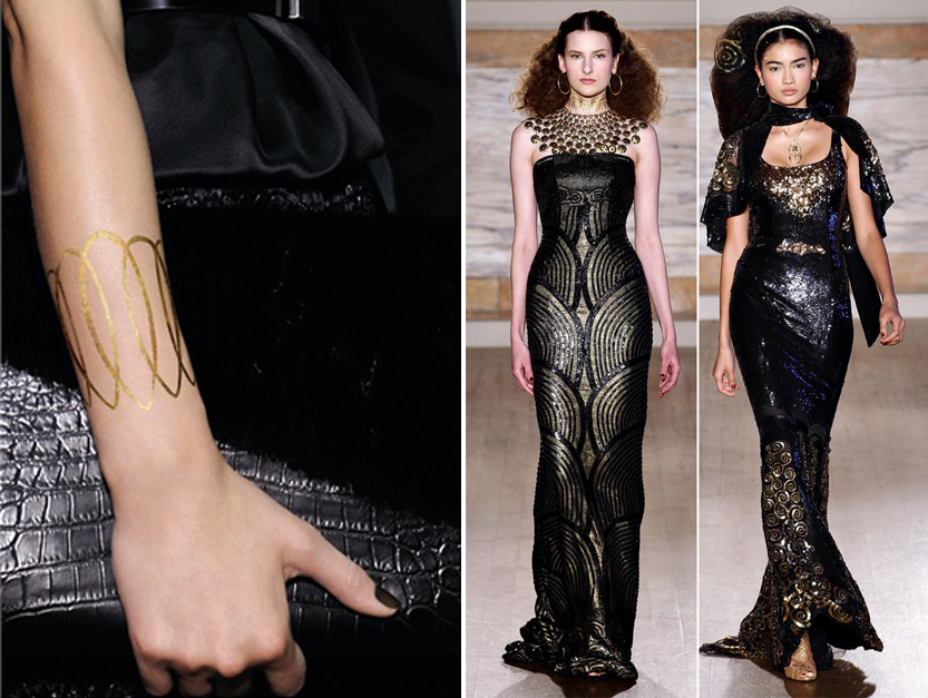 diy gold tattoo fabricadeimaginacion dior L'Wren Scott