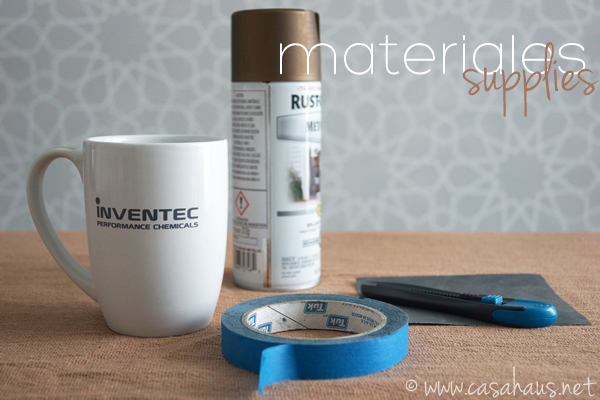 Materiales para pintar una taza / Mug painting supplies