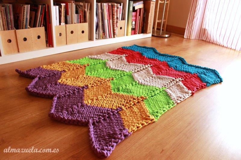 Patrón de alfombra de trapillo, zig-zag a dos agujas - Handbox Craft ...