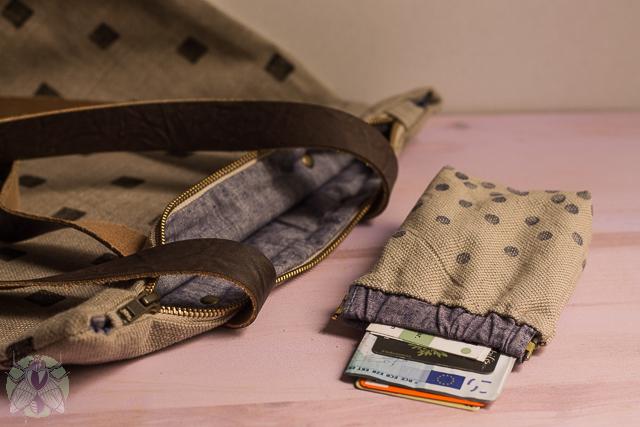 cartera de tela y bolso de tela y piel únicos pángala