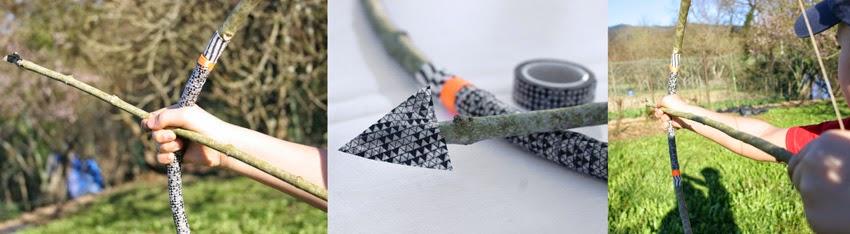 Jugando con el arco de indio handmade