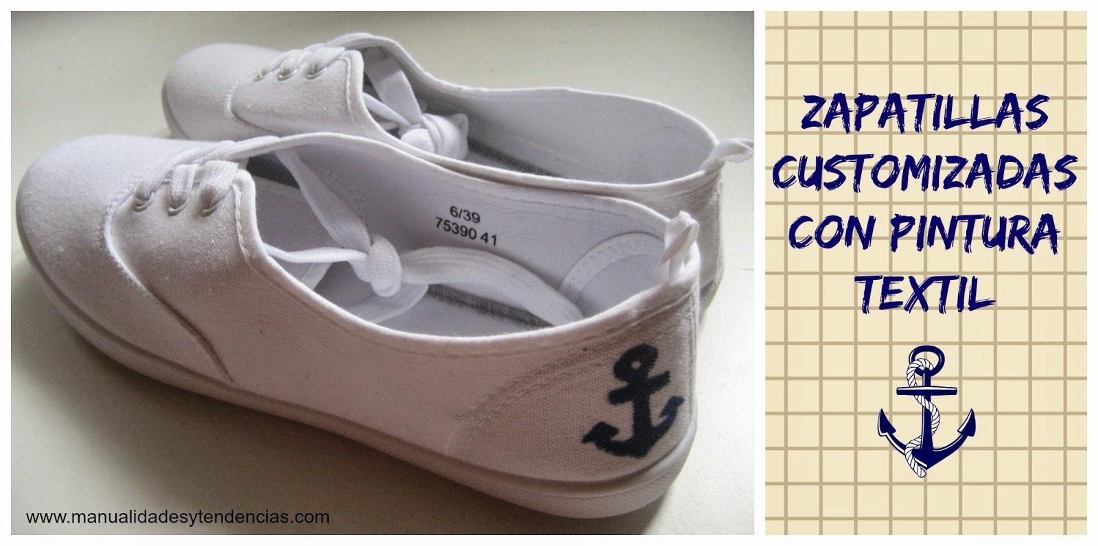 tutorial zapatillas pintadas con pintura textil / customized shoes