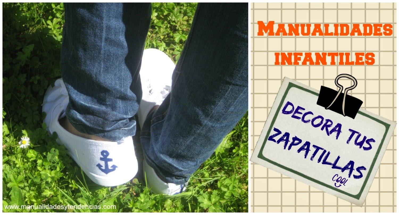 zapatillas customizadas con pintura textil