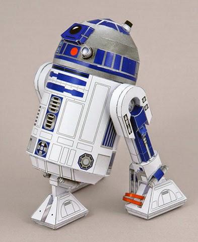 Descargable imprimible de R2-D2 de la saga de Star Wars para maqueta 3d