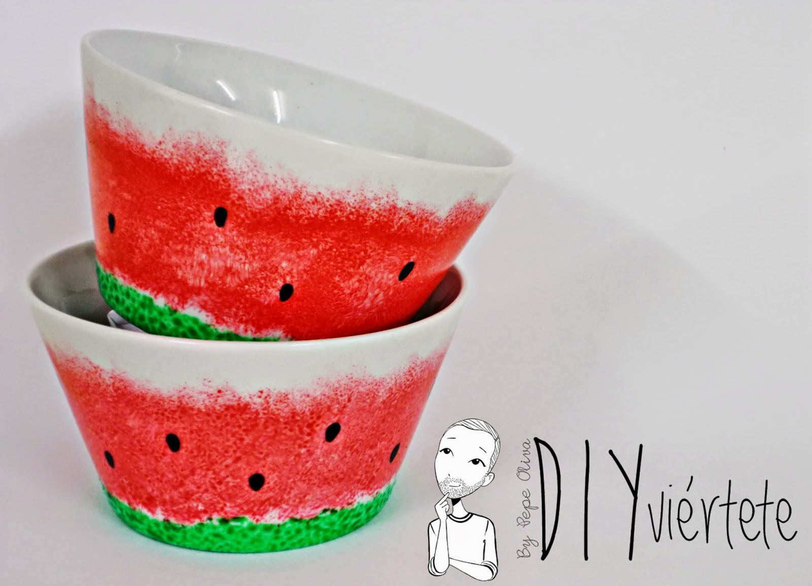 DIY-porcelana-pintar-porcelain-porzellan-sandía-DIYviertete-1