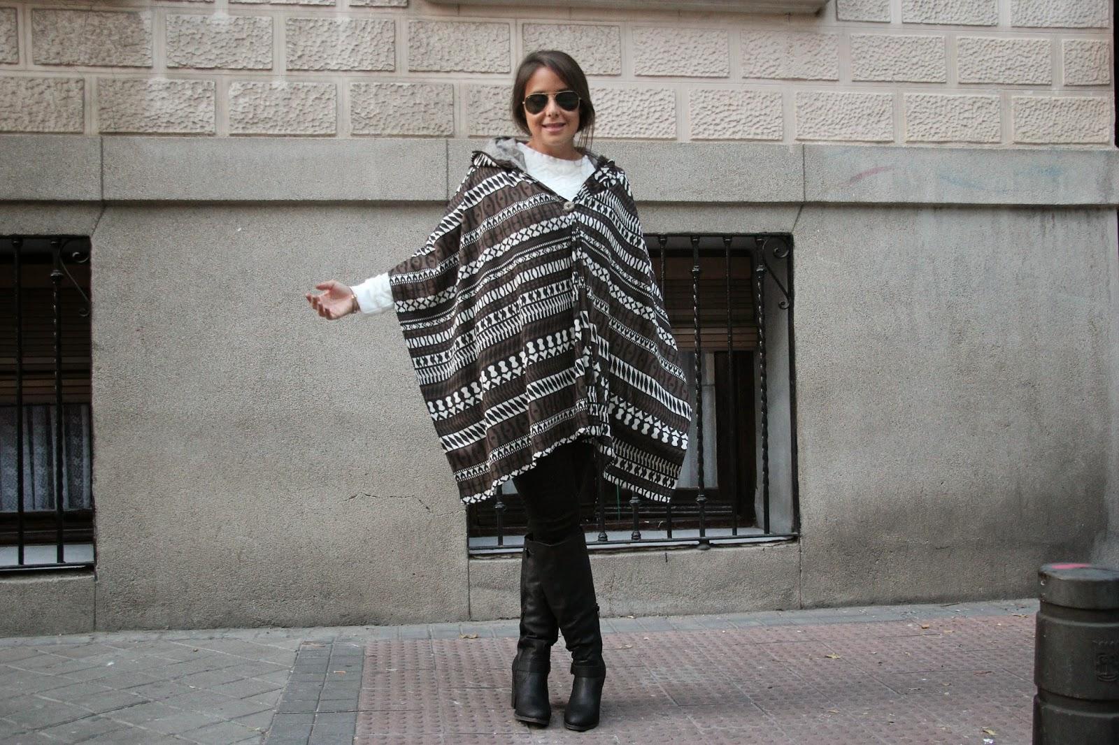 DIY Cómo hacer poncho muy fácil blog diy y blog de costura.