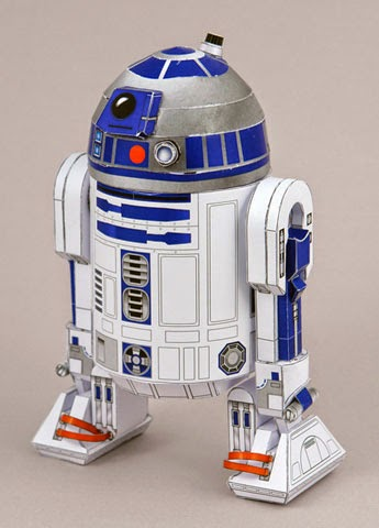 Descargable imprimible de R2-D2 para maqueta 3D