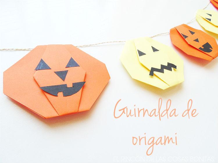 guirnalda de origami para halloween