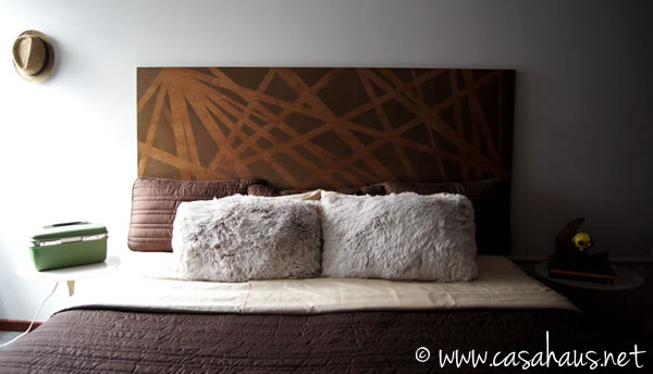 DIY headboard // Respaldo de cama de Rocío Jiménez para Deco Hogar de Casa Club TV // Casa Haus