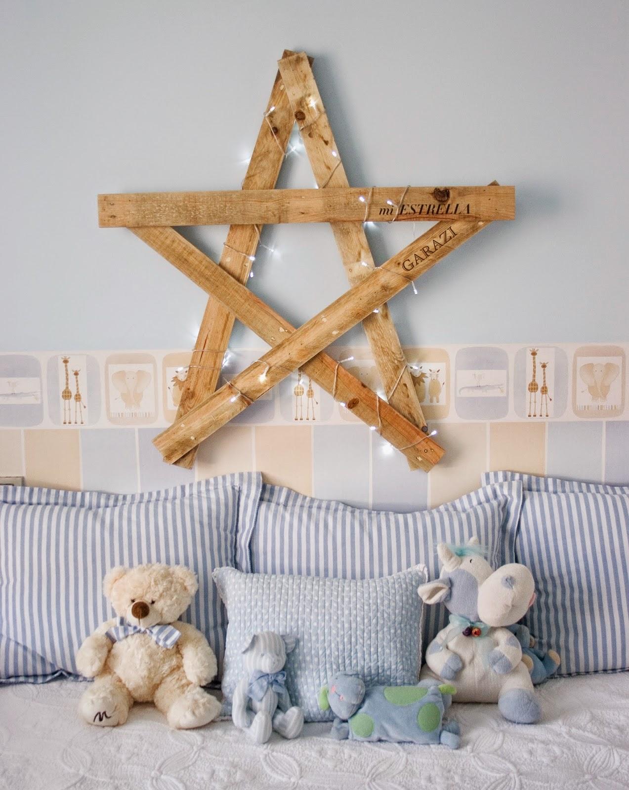 Diy estrella con madera de palet y polvo de hadas3
