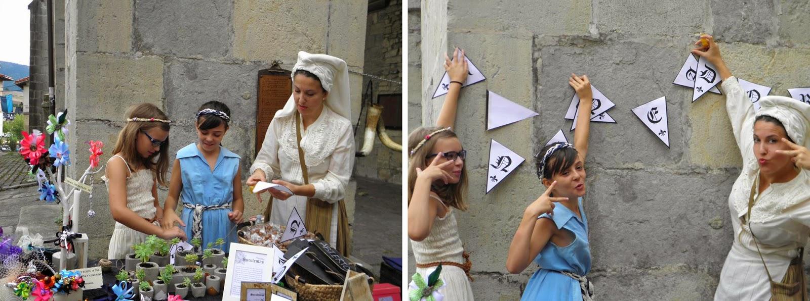 Mercado medieval de Artziniega y banderines medievales  descargables1