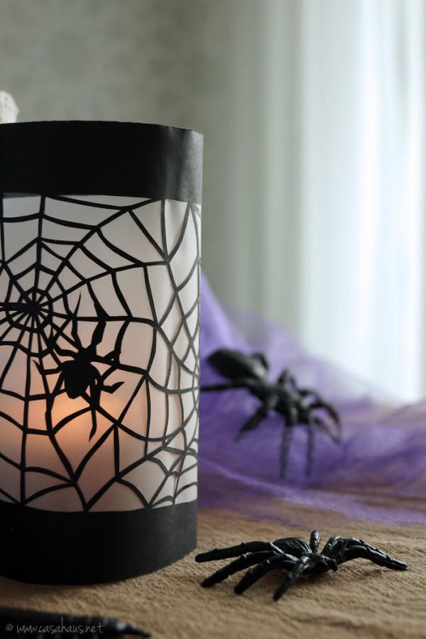 DIY paper lanterns for Halloween // Portavelas de papel para Halloween y Día de Muertos // Casa Haus