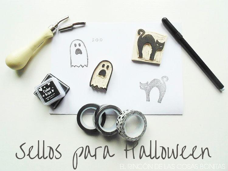 sellos carvados a mano para halloween