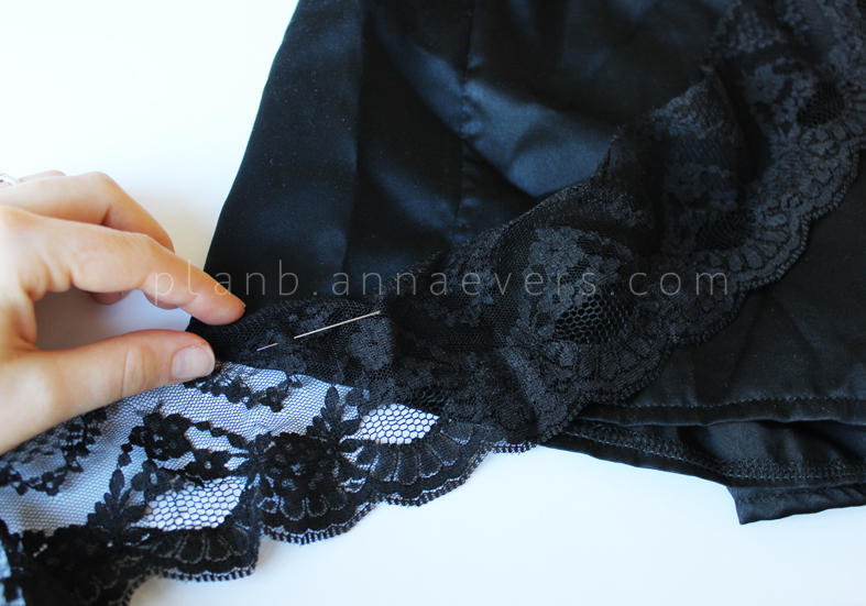 Plan B anna evers DIY Lace short step 7