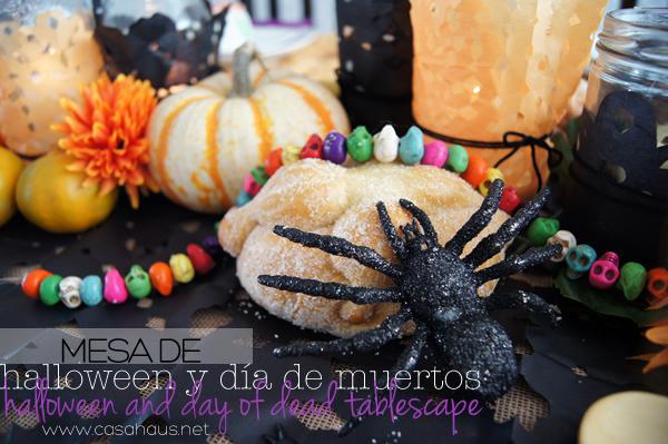 Halloween and Day of Dead tablesetting // Mesa de Halloween y Día de Muertos // Casa Haus