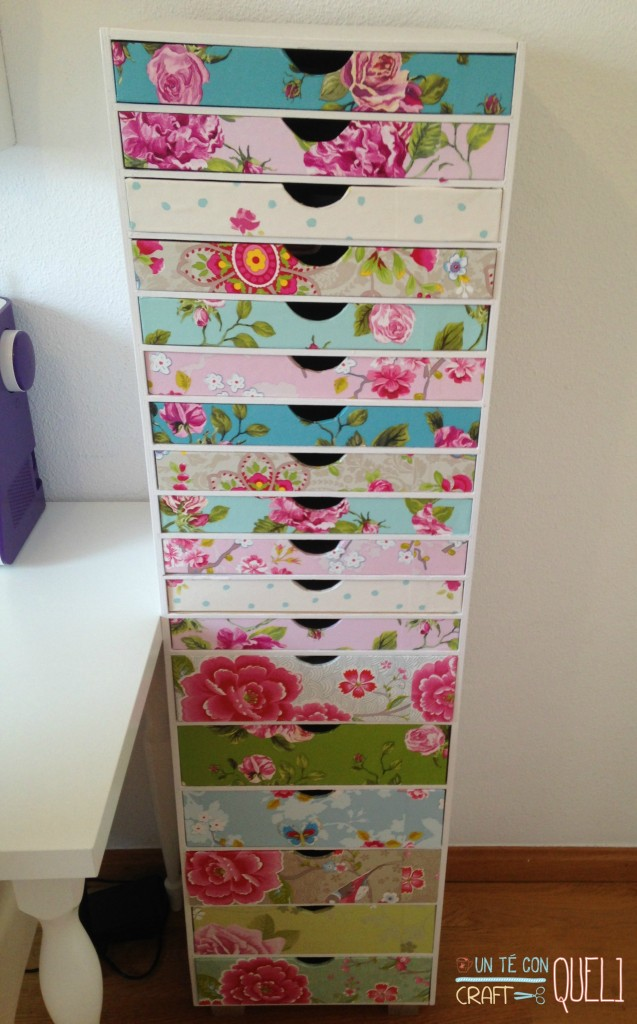 Decorar mueble con papel pintado - Handbox Craft Lovers | Comunidad ...