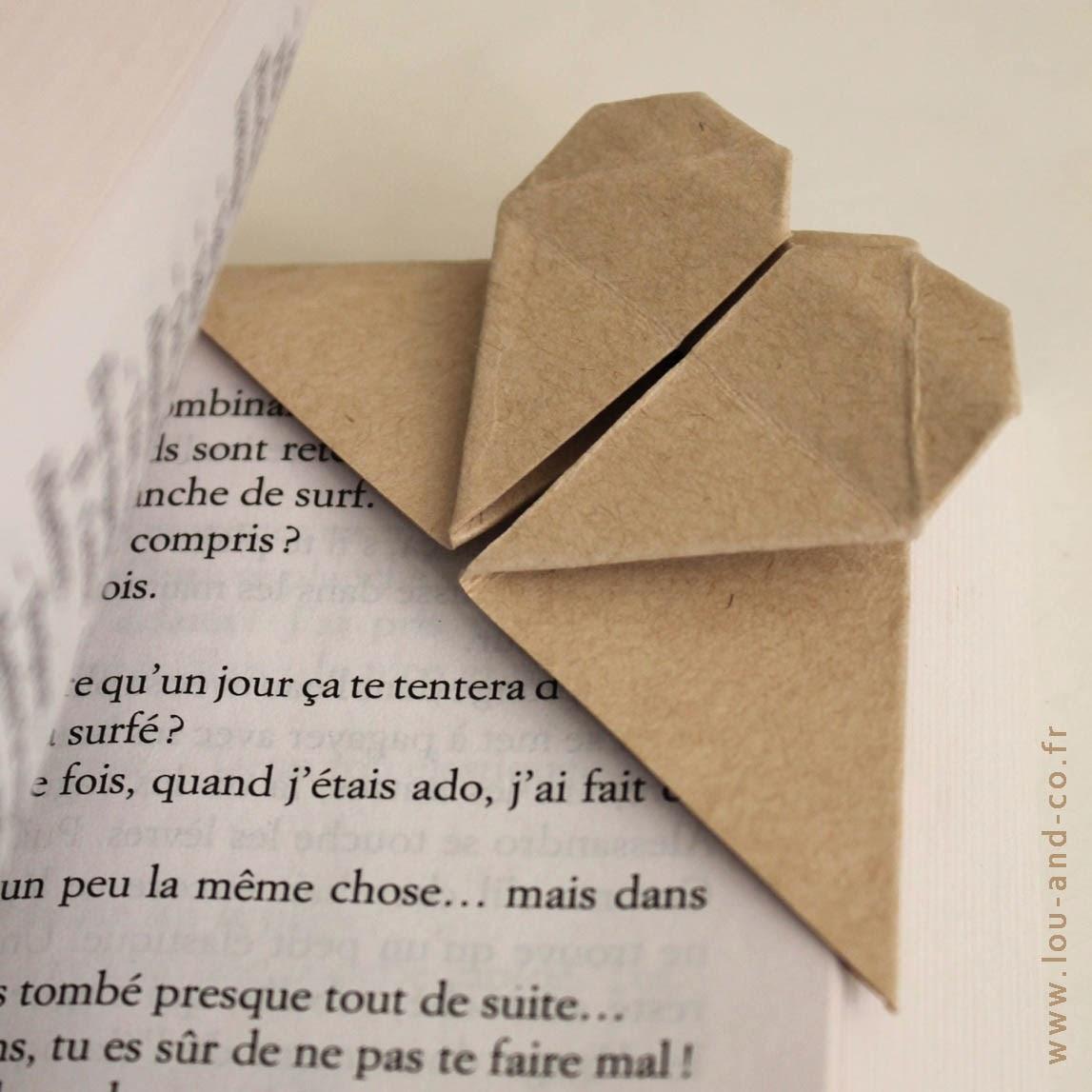 Marca-páginas origami corazón + sorteo Diariodeco1