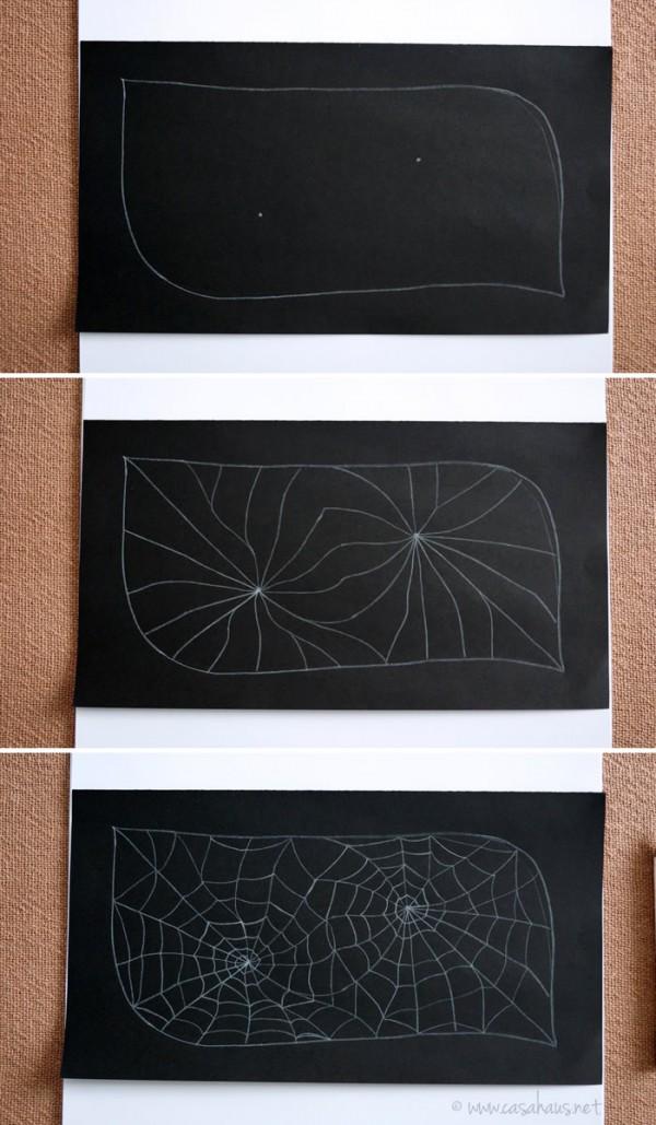 How to draw a spiderweb // Cómo dibujar una telaraña // Casa Haus