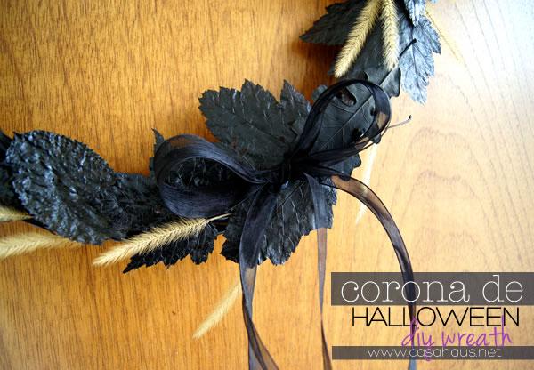 DIY elegant halloween wreath // Corona de Halloween // Casa Haus