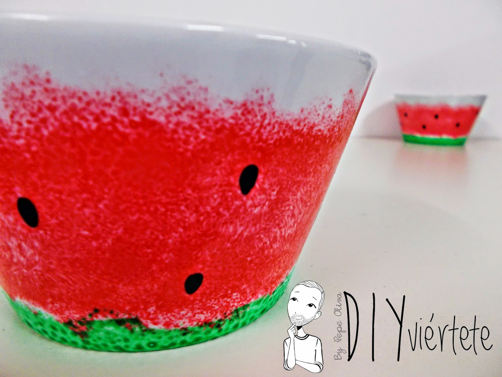 DIY-porcelana-pintar-porcelain-porzellan-sandía-DIYviertete-7