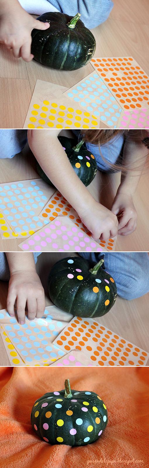 pasandolopipa   decorar calabaza con niños