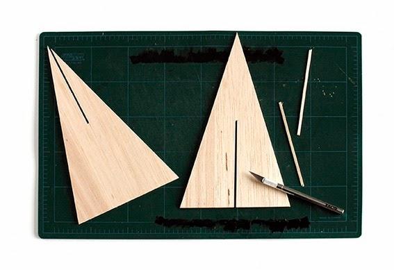 Diy pino de navidad de madera de okume o cartón6