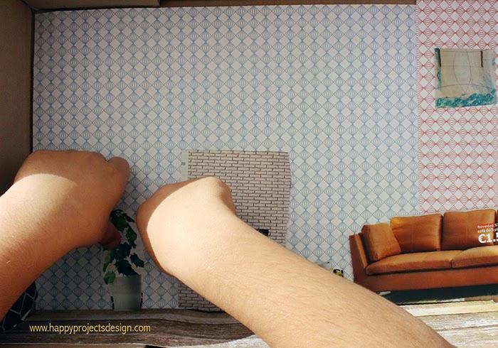 Casa de muñecas DIY: collage