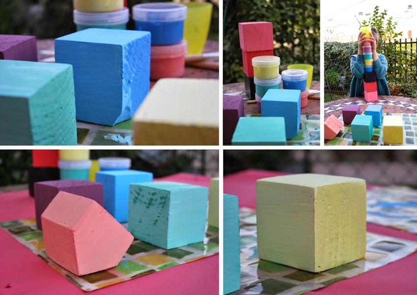 Pequeños arquitectos: Juego de apilables con bloques de palet pintados con chalk paint6