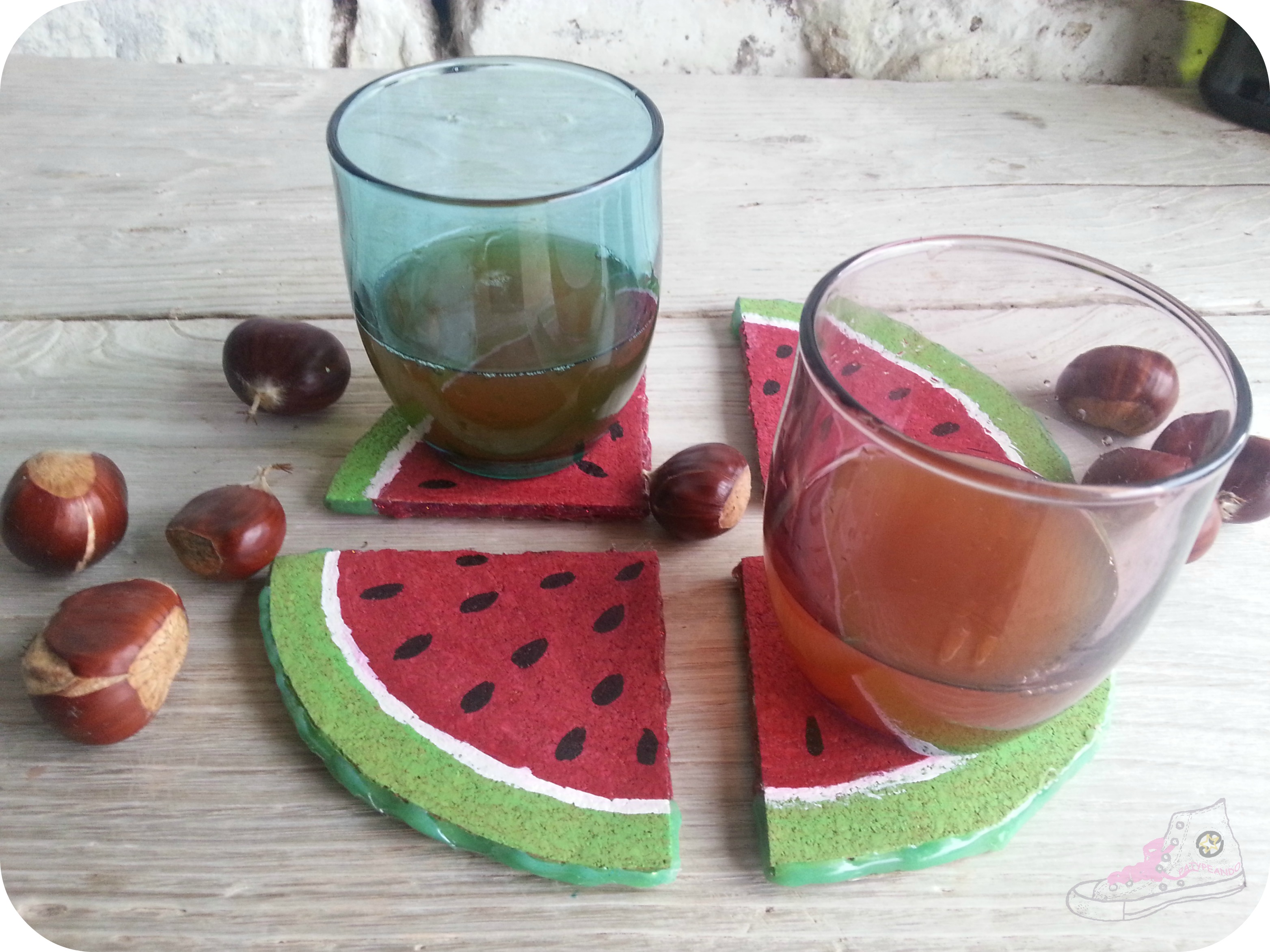 posavasos frutales otoñales
