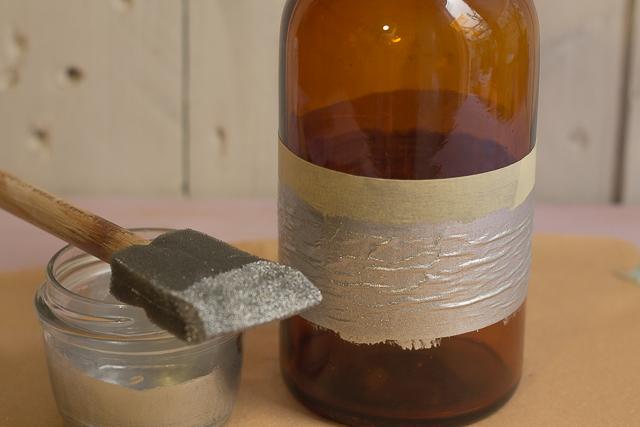 pintar sobre la cinta para proteger la botella arbol de navidad pangala