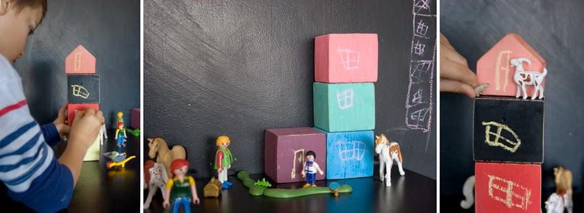 Pequeños arquitectos: Juego de apilables con bloques de palet pintados con chalk paint11