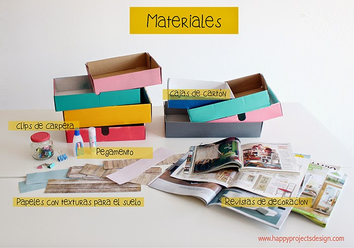 Casa de muñecas DIY: materiales
