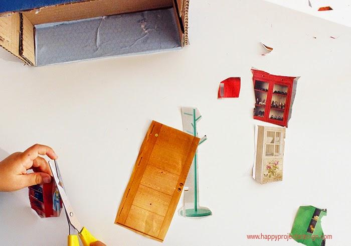 Casa de muñecas DIY:collage