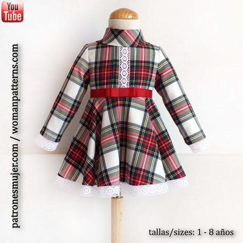 Tag  patrones gratis. Vestido niña de capa  DIY ... 43b72ecf99a