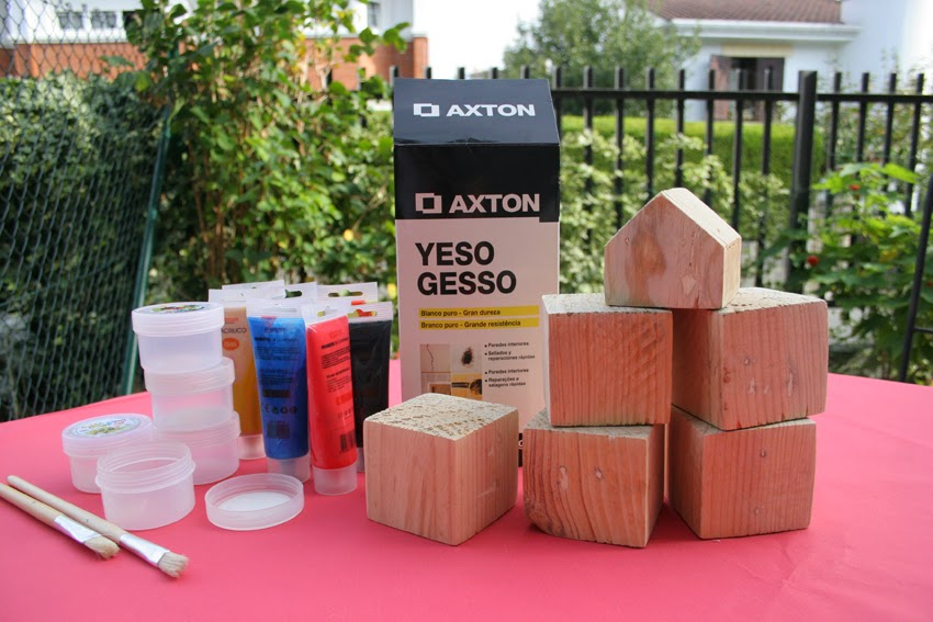 Pequeños arquitectos: Juego de apilables con bloques de palet pintados con chalk paint3