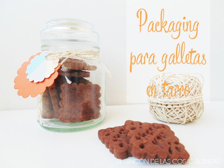 packaging para galletas en un tarro