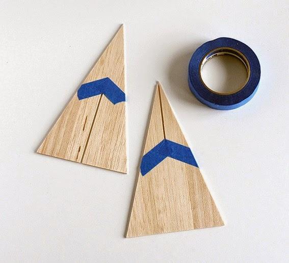 Diy pino de navidad de madera de okume o cartón8