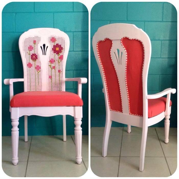 Bordado sobre una silla