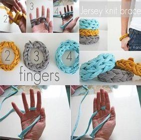 tejer con los dedos pangala