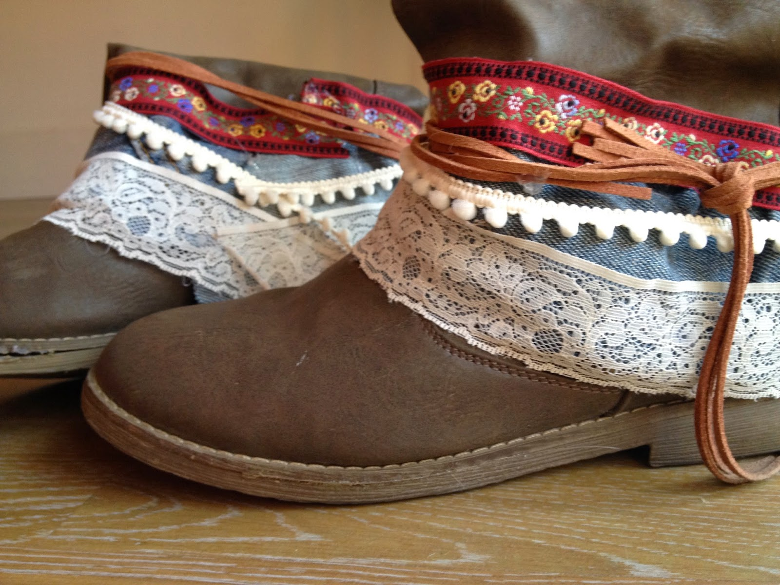 Unas lindo botas boho chic
