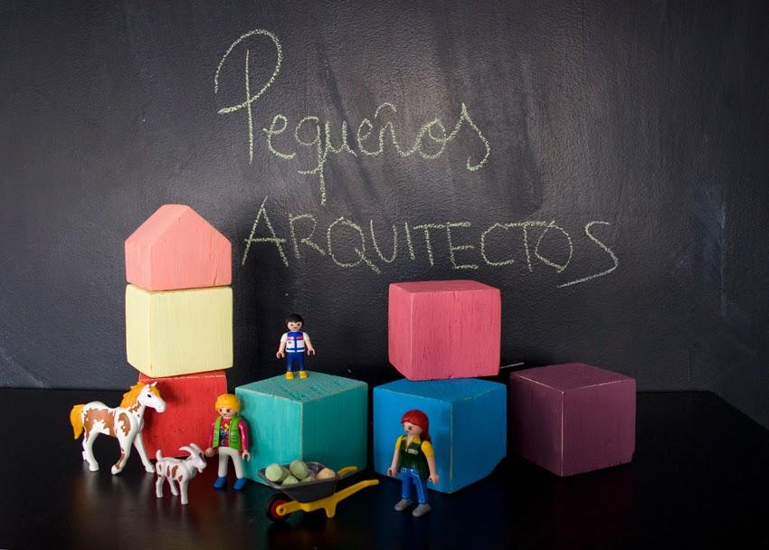 Pequeños arquitectos: Juego de apilables con bloques de palet pintados con chalk paint1