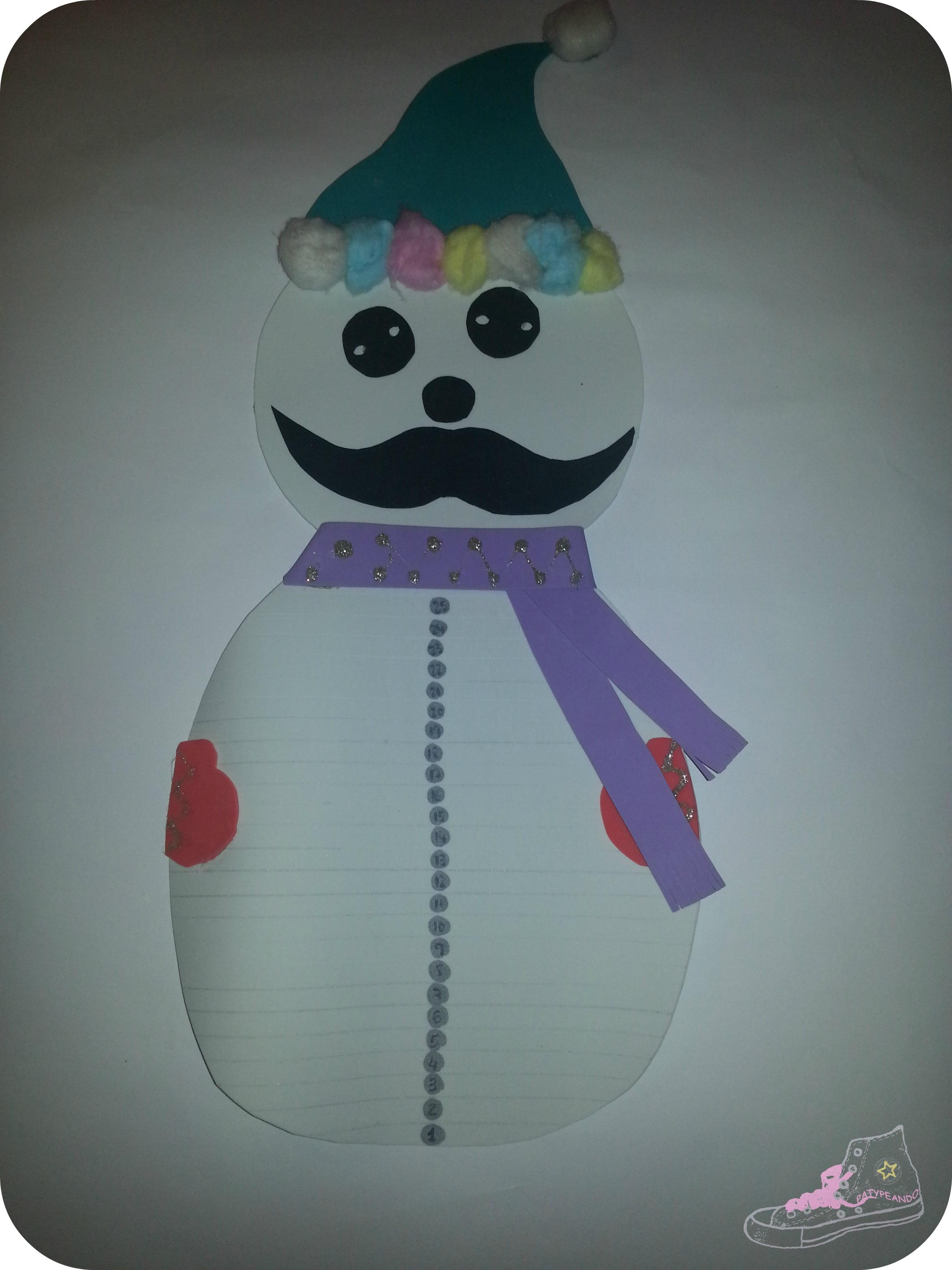 muñeco de nieve movember