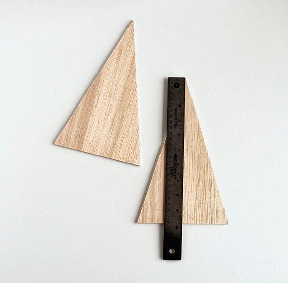 Diy pino de navidad de madera de okume o cartón5