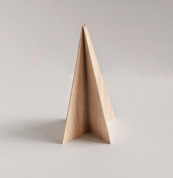 Diy pino de navidad de madera de okume o cartón7