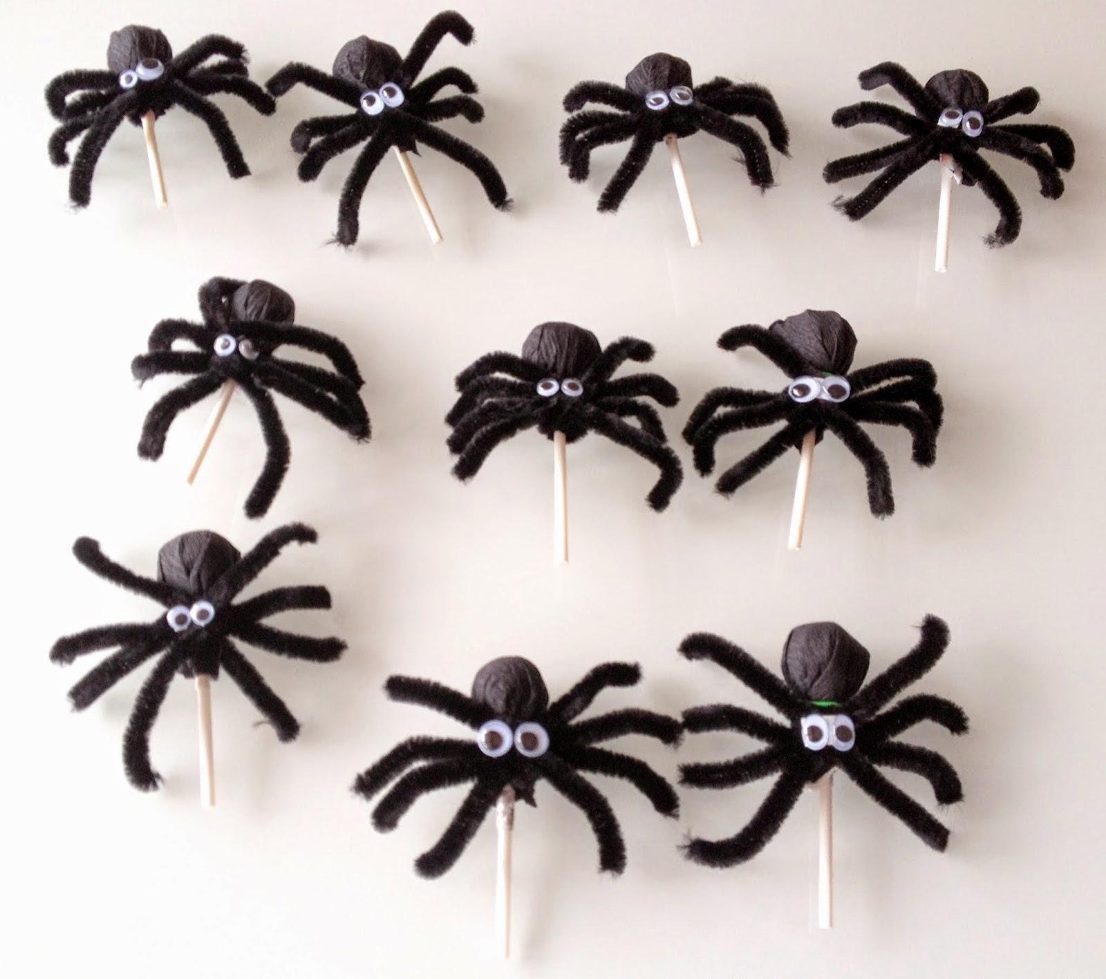 Chupa-Chups decorados de araña